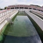 Sedimentation tank in a water treatment plant